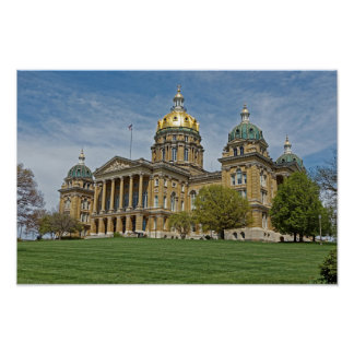 Iowa State Capitol Building Poster