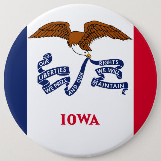 Iowa State Flag 6 Cm Round Badge