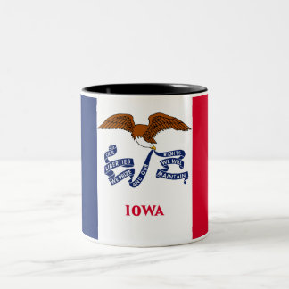 Iowa State Flag Two-Tone Coffee Mug