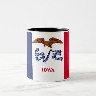 Iowa State Flag Two-Tone Coffee Mug