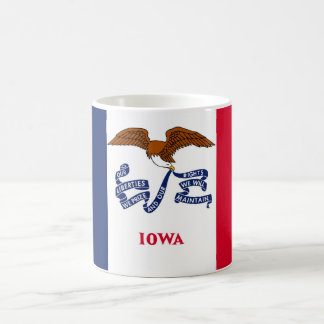 iowa state flag united america republic symbol basic white mug