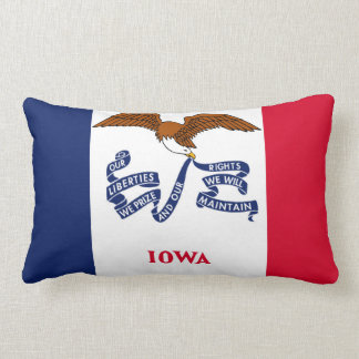 iowa state flag united america republic symbol lumbar cushion