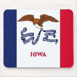 iowa state flag united america republic symbol mouse pad