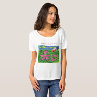 Iowa State Flower Wild Rose Bella T-Shirt Faith