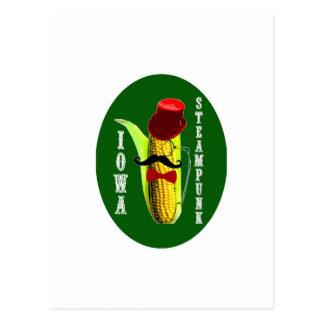iowa steampunk corncob mascot postcard