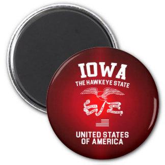 Iowa The Hawkeye State Magnet
