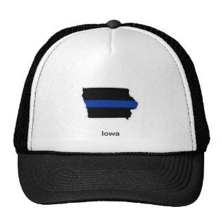 Iowa Thin Blue Line trucker Hat