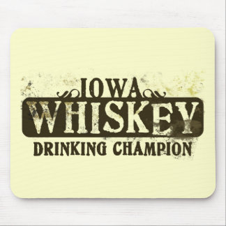 Iowa Whiskey Drinking Champion Mouse Pads