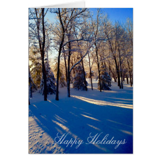 Iowa Winter Morning Scene Holiday Card