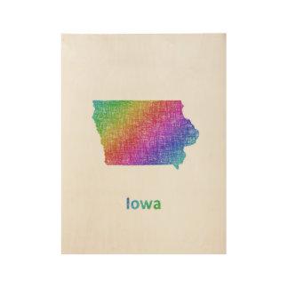 Iowa Wood Poster