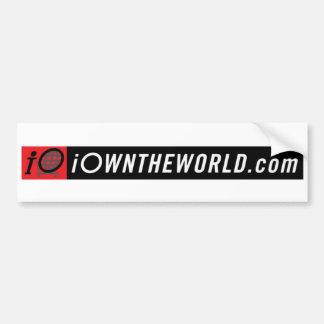 iOwnTheWorldBannerLogo Bumper Sticker