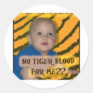 IP 5 tiger blood Round Sticker