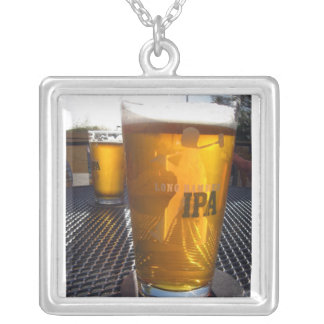 IPA love Silver Plated Necklace