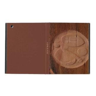 iPad 2 3 4 Folio Case Angel in the Rocks Brown iPad Cover
