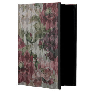 iPad Air Case - Diamond & Flowers Pattern