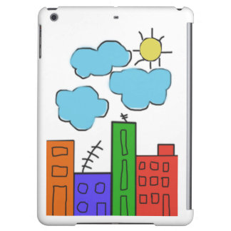 ipad air case with colorful houses