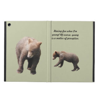 iPad Air Case with No Kickstand grizzly cub