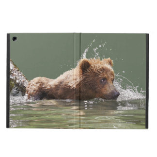 iPad Air Case with No Kickstand w/ grizzly cub