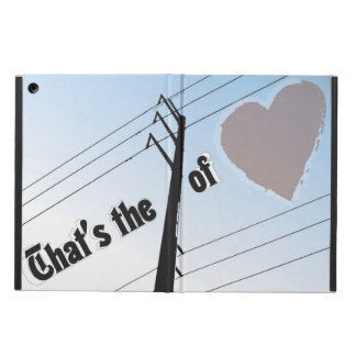iPad Air POWER OF LOVE SILOUETTE Cover For iPad Air