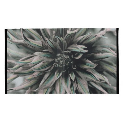 iPad Case - Hand Colored Spiral Dahlia