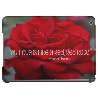 iPad Case My Love Red Rose