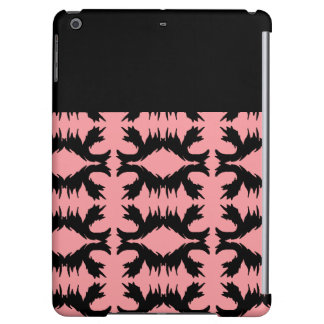 iPad Case Salmon Black Flourish Colorblock 1