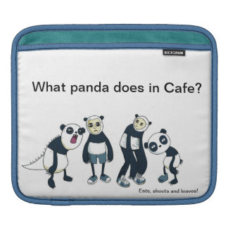 Ipad case/sleeves - Panda Jokes Sleeve For iPads