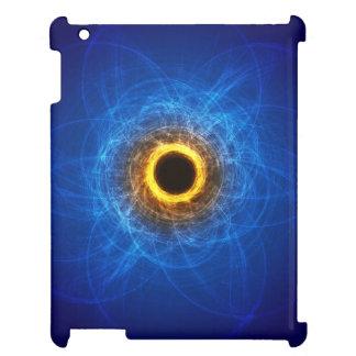 Ipad case w/ blue & orange swirl/cyclone design