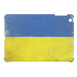 iPad Case with Distressed Ukrainian Flag Print