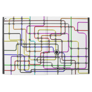 iPad cases colorful subway lines and stations