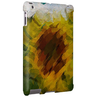 iPad covering abstract sunflower