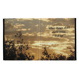 iPad Folio: Golden Sky Framed with Trees at Sunset iPad Folio Case
