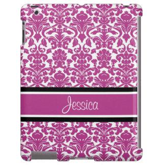iPad Hot Pink Damask Custom Name