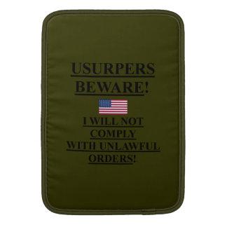 ipad / Laptop Sleeve w/ American flag / USURPERS MacBook Sleeves