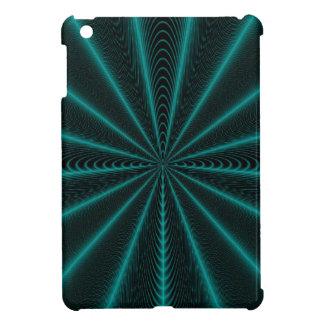 iPad Mini Case Black Aqua Web Abstract