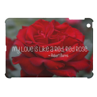 iPad Mini Case My Love Red Rose