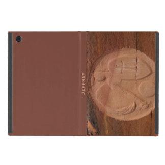 iPad Mini Folio Case Angel in the Rocks Brown Back iPad Mini Cases