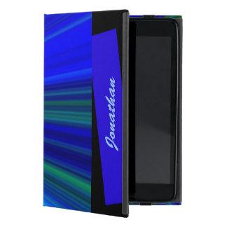 iPad Mini Folio Case, Starburst, Blue iPad Mini Cover