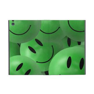 iPad Mini Green smiley faces Cover For iPad Mini