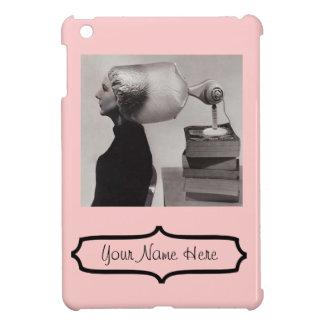 iPad Mini - Pink Vintage 1960 Hair Salon Add Name! Cover For The iPad Mini