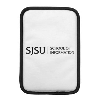 iPad mini sleeve - black iSchool logo