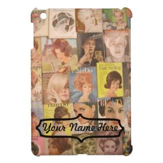 iPad Mini - Vintage 1960 Hair Styles Collage iPad Mini Covers