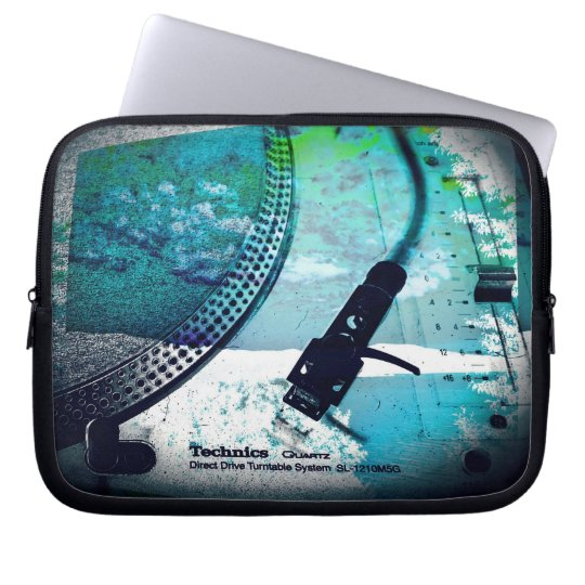 "ipad or 10"", 13"", 15"" laptop case, turntable art laptop sleeve"