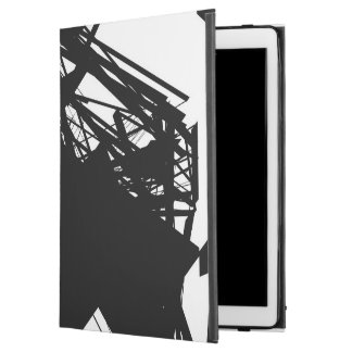 iPad Pro Case with Black Scratch Lines Print