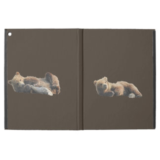 iPad Pro Case with No Kickstand w/ grizzly cub