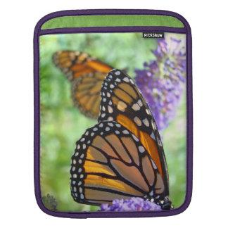 iPAD Sleeve gifts Monarch Butterfly Garden Flowers