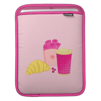iPad sleeve with pink style breakfast design