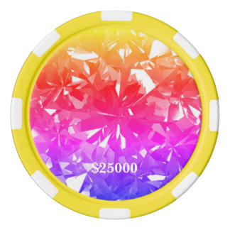 Ipanema Bold Gem Stone Clay Poker Chip Stripe Edge Poker Chips