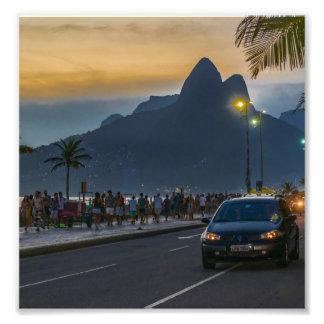 Ipanema Sidewalk Rio de Janeiro Brazil Photo Print