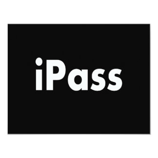 iPASS 11 Cm X 14 Cm Invitation Card